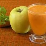 Jugo de manzana con zanahoria y apio